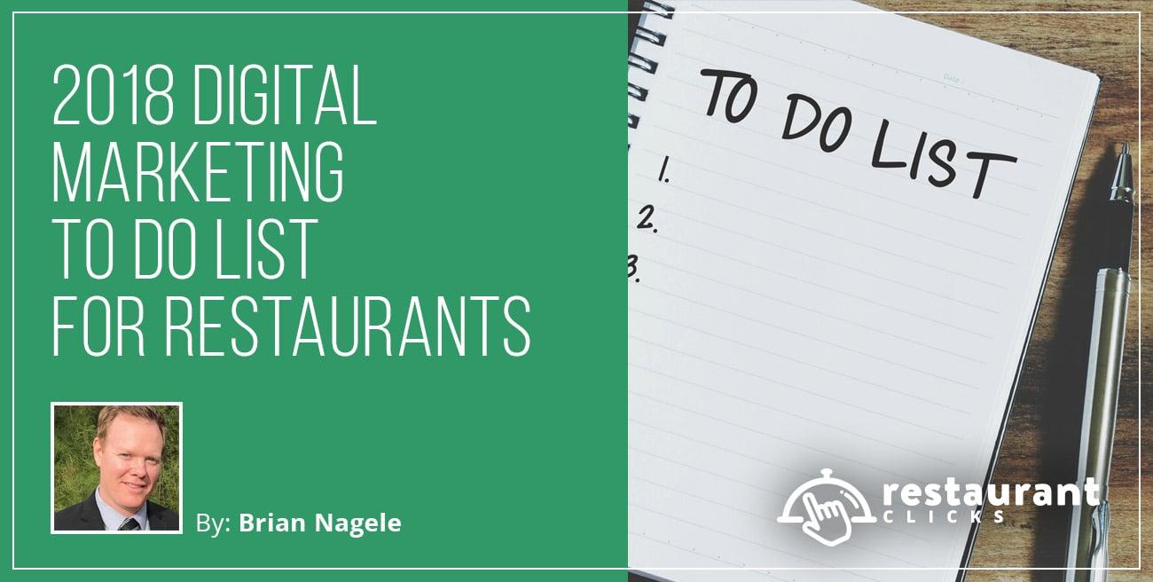 To Do List for Restaurants