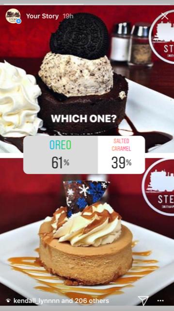 instagram poll ideas for restaurants