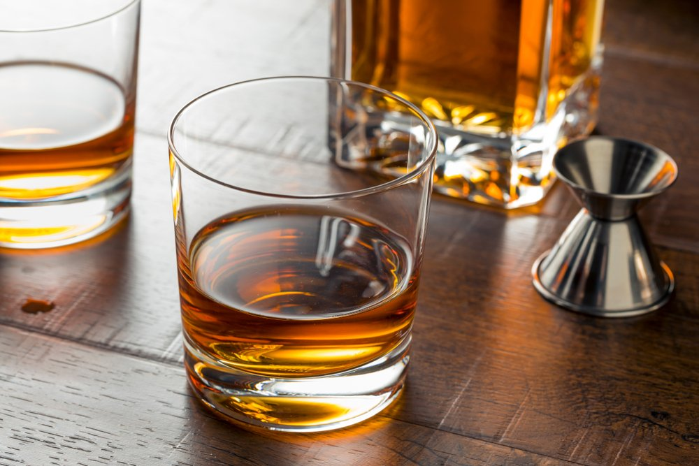 Delicious Bourbon Whiskey Neat in a Glass