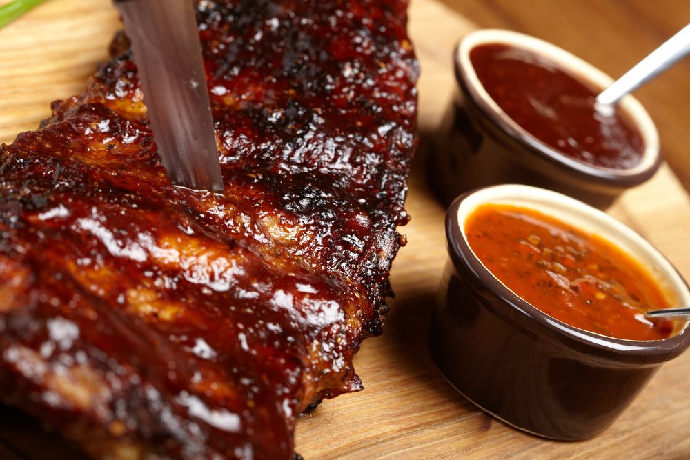 delicious barbevue ribs served up in Philadelphia.