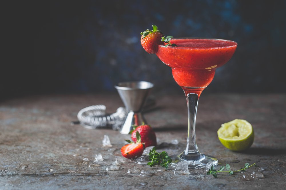 strawberry daiquiri in a glass